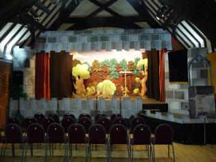 Stage set up for Pantomime